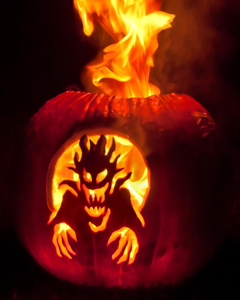 best firy scary pumpkin ideas 2015 - Cool Halloween Designs