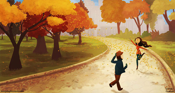 Central-Park-Cute-Love-Illustrations