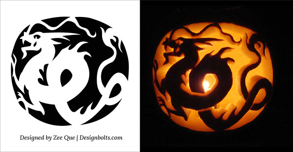 dragon free pumpkin carving ideas 2015 - Free Scary Halloween Pumpkin Carving Patterns