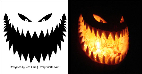 free scary pumpkin stencils 2015 - Free Scary Halloween Pumpkin Carving Patterns