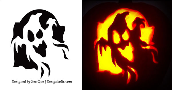 5 Easy Yet Simple Halloween Pumpkin Carving Patterns / Stencils for ...