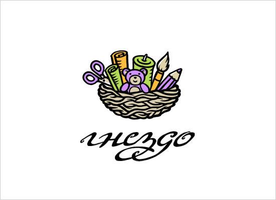 Gnezdo-(russian-nest)-handmade-shop-(logo-concept)
