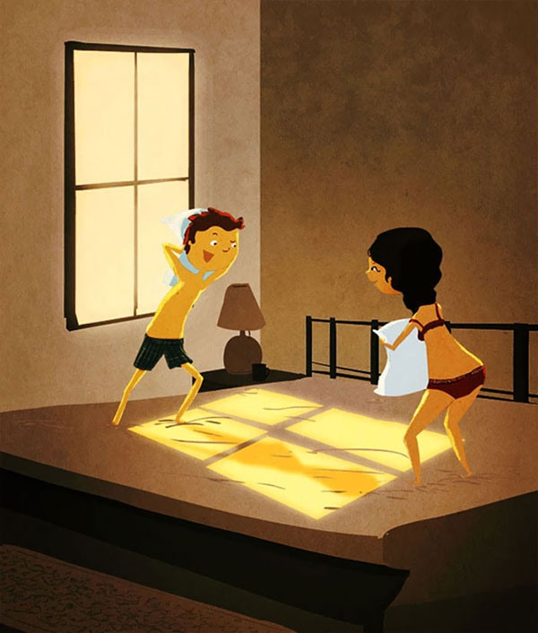 Pillow-Fights-Cute-Love-Illustrations