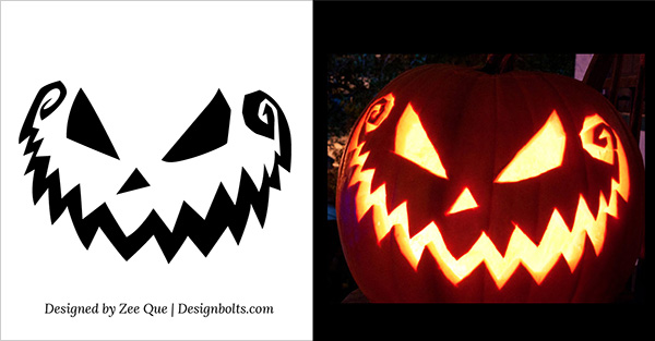 5 free scary halloween pumpkin carving patterns stencils ideas rh designbolts com scary pumpkin carving ideas easy scary pumpkin carving stencils
