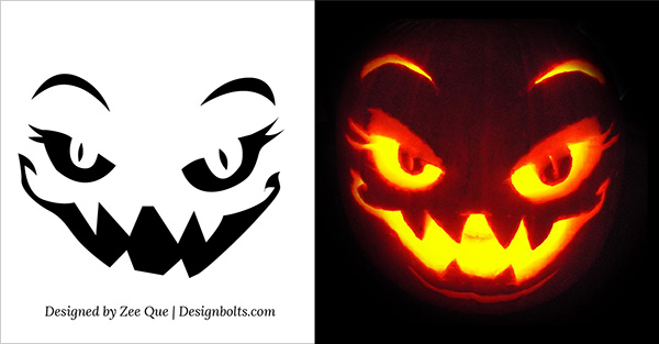 scary pumpkin carving pattern 2015 - Free Scary Halloween Pumpkin Carving Patterns