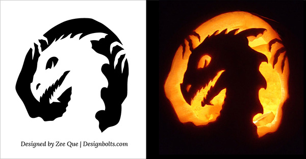 Dragon Scary Pumpkin Carving 2015