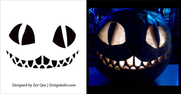 scary cat pumpkin carving free printable 2015