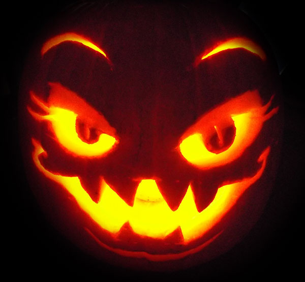 Cool scary halloween pumpkin carving designs ideas