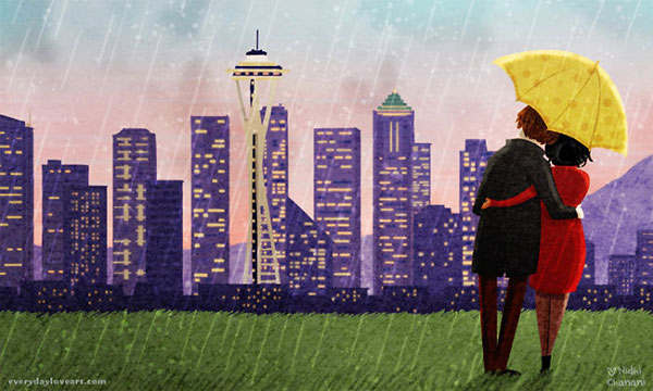 Seattle-Rain-Cute-Love-Illustrations