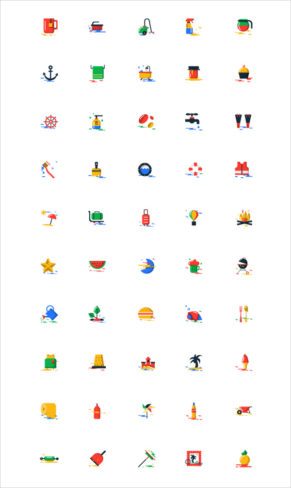 1000-Free-blobs-flat-icons-with-two-styles