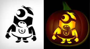 5 Free Minion Pumpkin Carving Stencils Patterns Ideas5