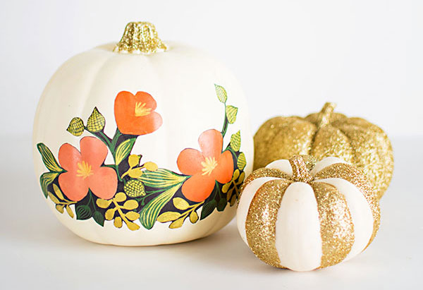 25 no carve painted pumpkin ideas a new trend of Flower painted pumpkins