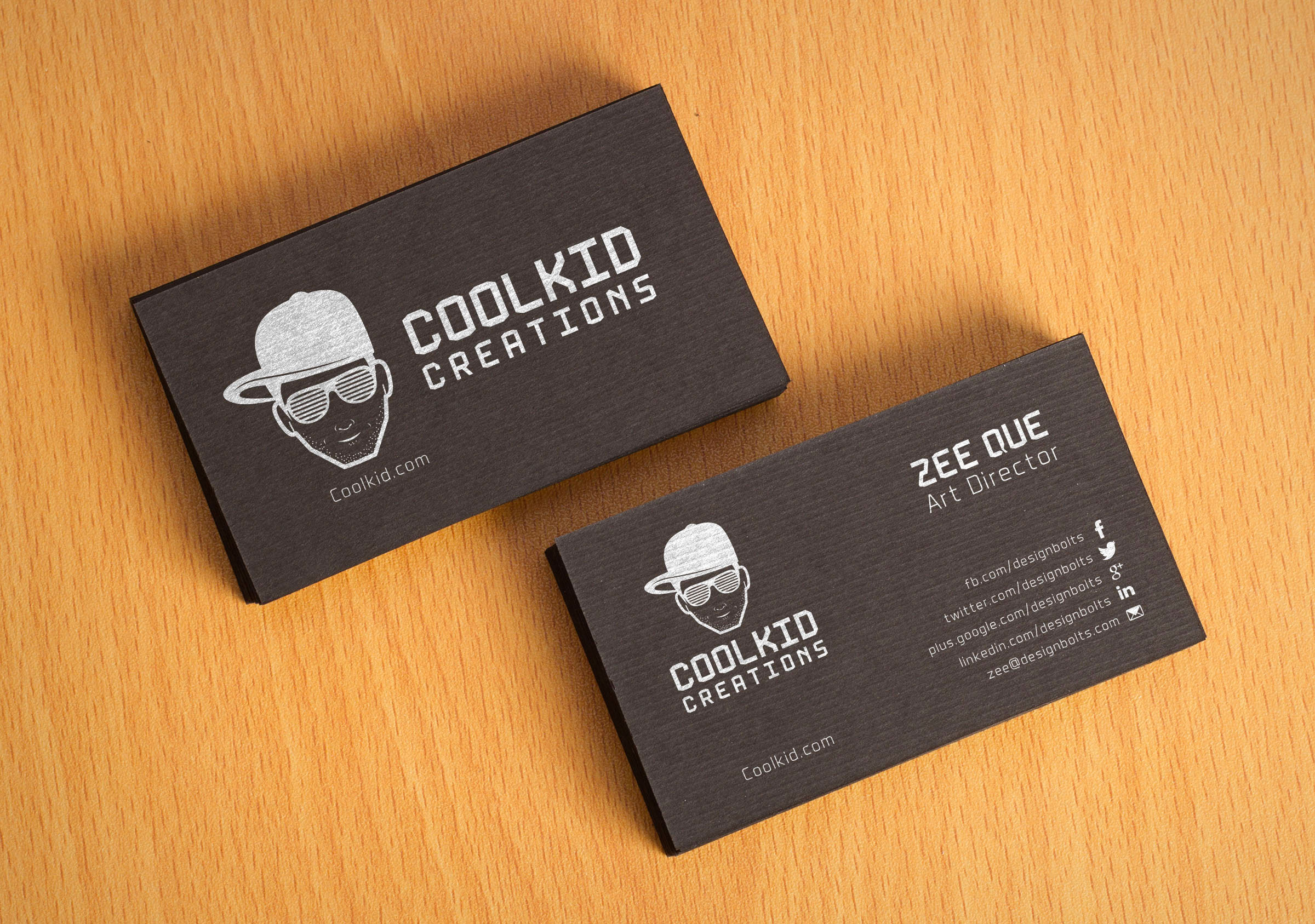 Free Black Textured Business Card Design Template Mockup PSD - Business card design template free