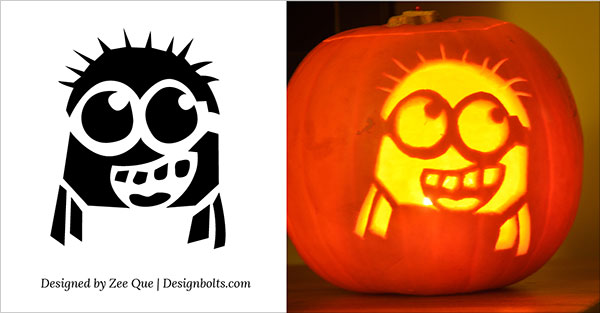 photo about Printable Minion Face titled 10 Least complicated Cost-free Minion Pumpkin Carving Stencils / Habits