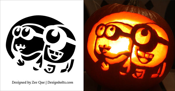 free minion pumpkin carving stencils patterns ideas 2015