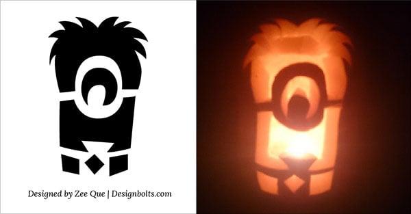 10 best free minion pumpkin carving stencils patterns ideas for rh designbolts com easy minion pumpkin carving stencils