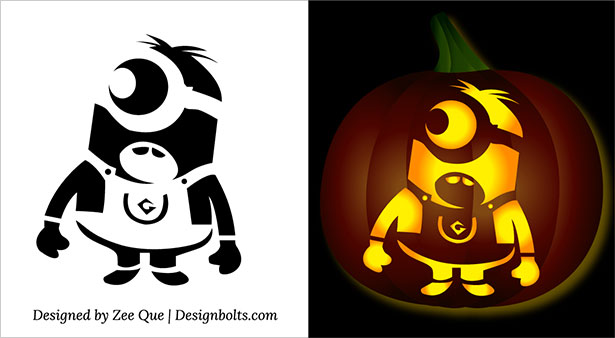 10 best free minion pumpkin carving stencils patterns ideas for rh designbolts com