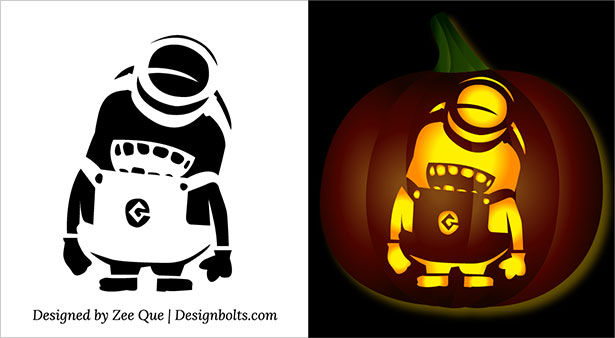 free printable halloween minion pumpkin carving stencils 2015