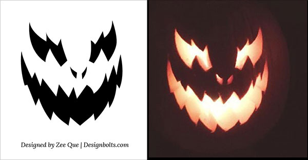 image relating to Printable Pumpkin Templates identified as 10 No cost Halloween Overwhelming Neat Pumpkin Carving Stencils