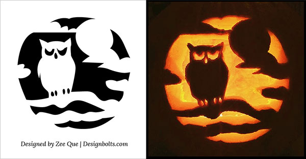 Free halloween scary cool pumpkin carving stencils