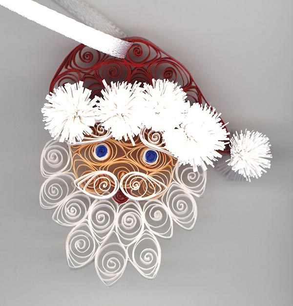 Quilled-Santa-ornament