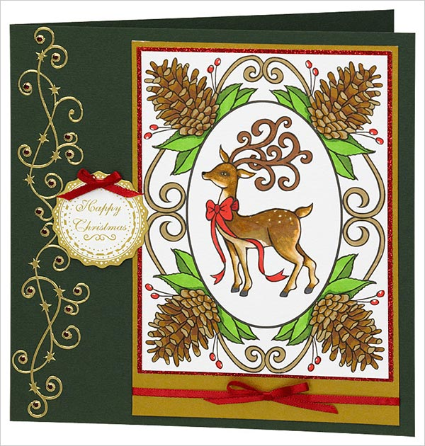 Reindeer-Happy-Christmas-Greeting-Card