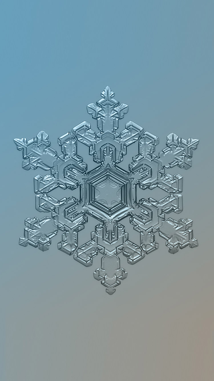 Snowflake-iPhone-winter-Wallpaper