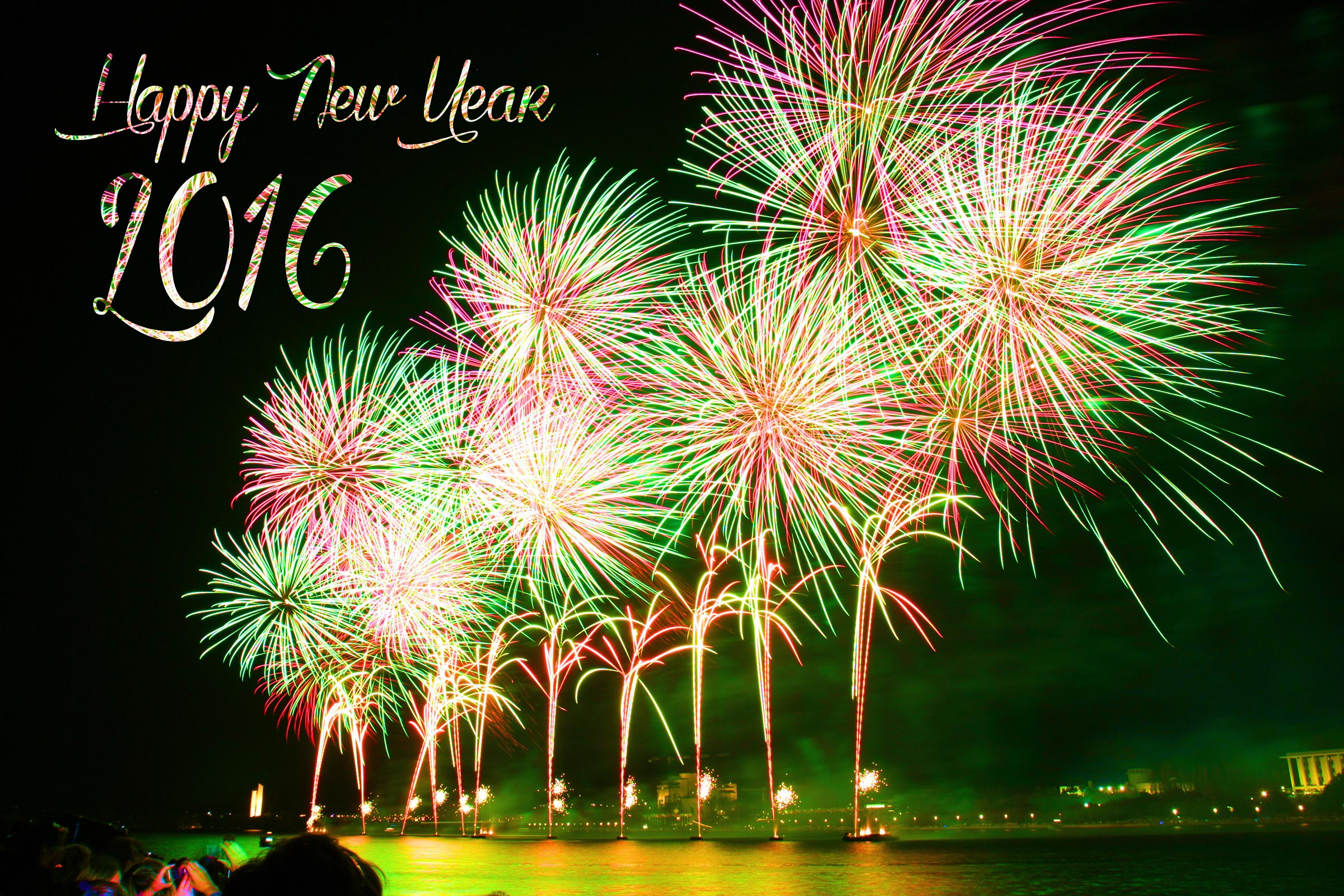 beautiful happy new year 2016 fireworks walpaper