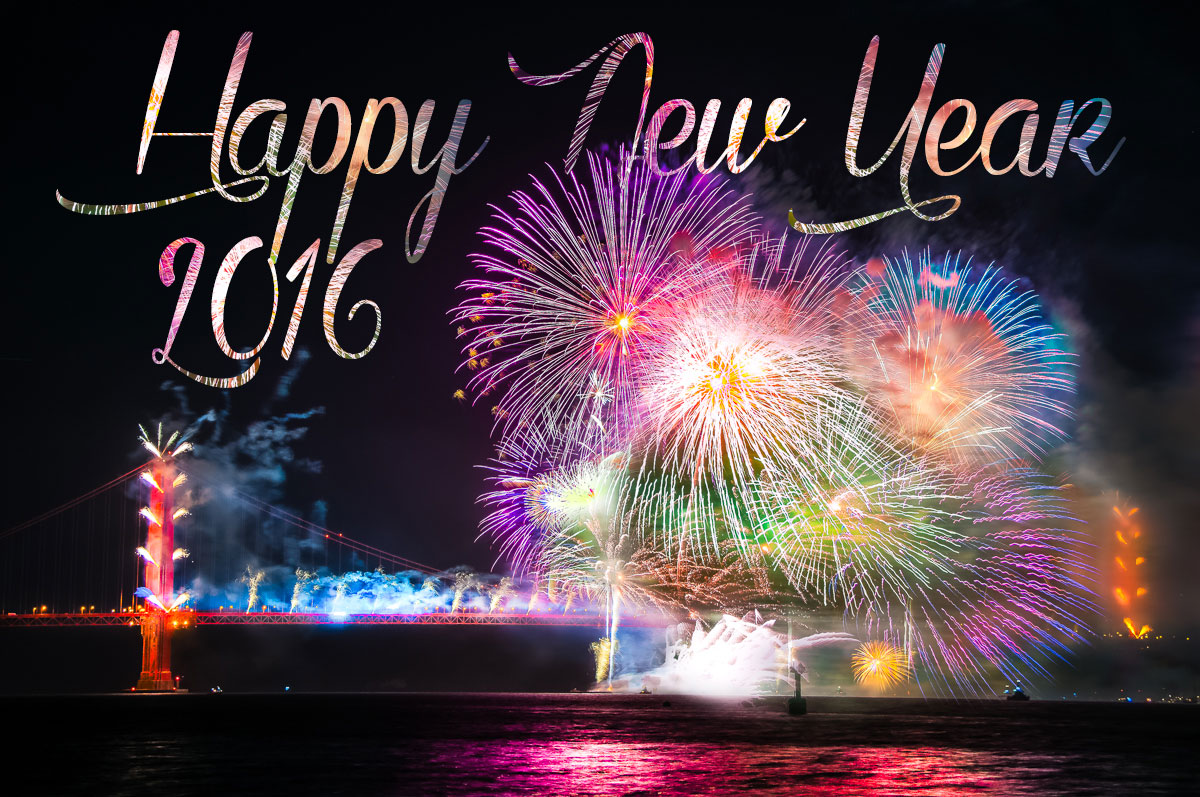beautiful happy new year 2016 wallpaper fireworks