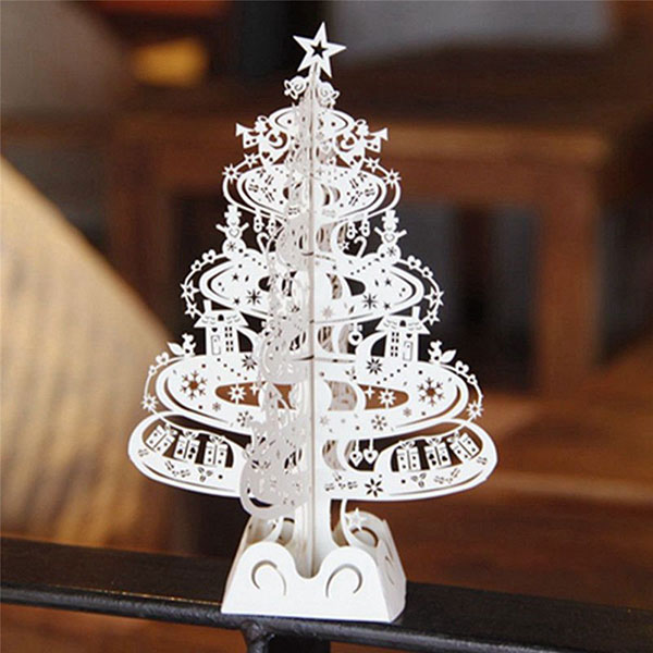 Buy the best 20 pop up christmas greeting cards of 2015 best cutout 3d christmas tree card 2015 2 m4hsunfo