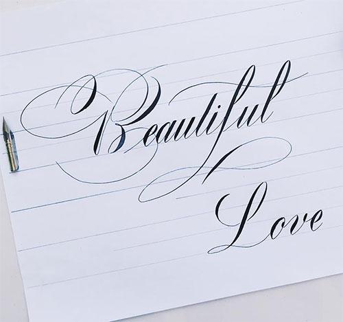 Oblique-Script-Lettering