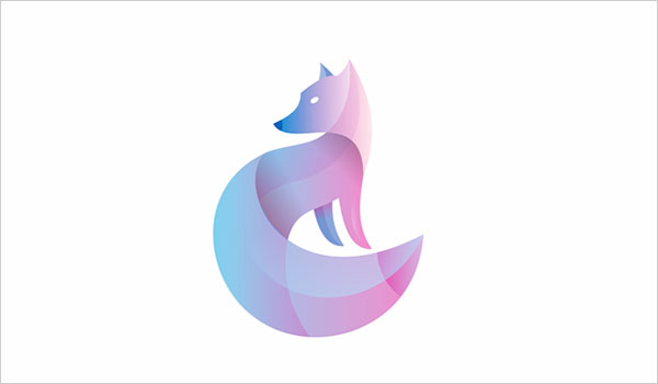Overlapping-gradients-Fox-logo-design-2016