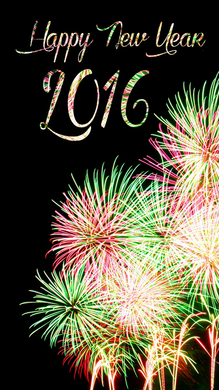 happy new year 2016 iphone 6 wallpaper hd