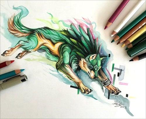 nspiring-Color-Pencil-Drawings-of-Animals-2016-(1)