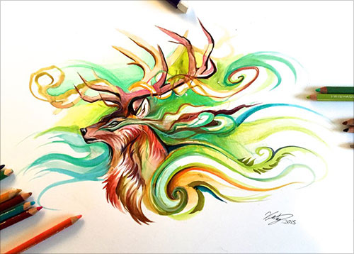 nspiring-Color-Pencil-Drawings-of-Animals-2016-(10)