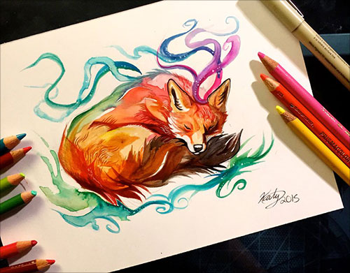 nspiring-Color-Pencil-Drawings-of-Animals-2016-(11)