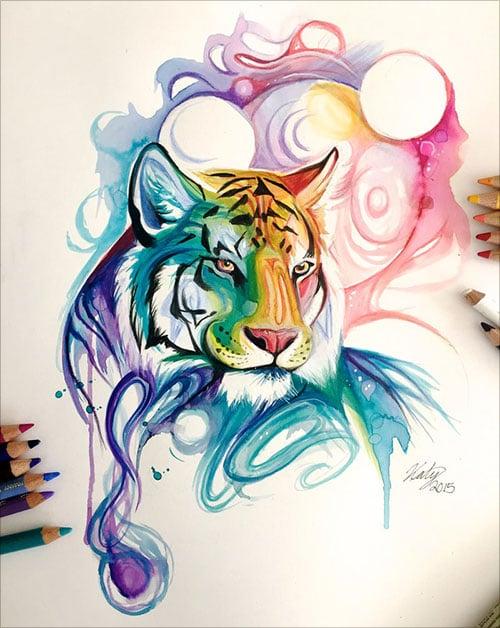 nspiring-Color-Pencil-Drawings-of-Animals-2016-(16)
