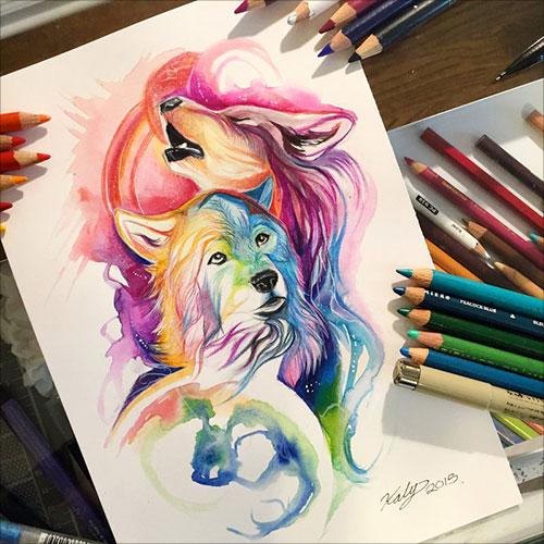 nspiring-Color-Pencil-Drawings-of-Animals-2016-(19)