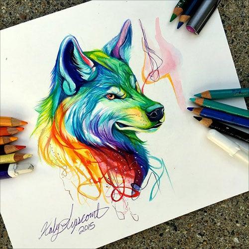 nspiring-Color-Pencil-Drawings-of-Animals-2016-(25)