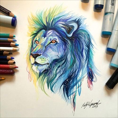 nspiring-Color-Pencil-Drawings-of-Animals-2016-(26)