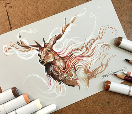 nspiring-Color-Pencil-Drawings-of-Animals-2016-(29)