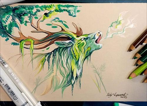 nspiring-Color-Pencil-Drawings-of-Animals-2016-(33)