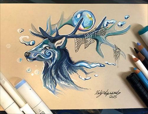 nspiring-Color-Pencil-Drawings-of-Animals-2016-(34)