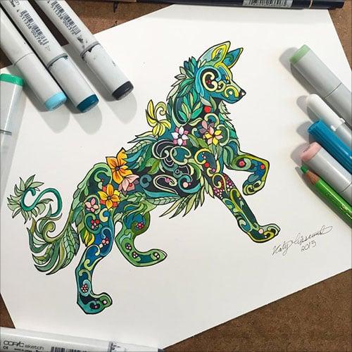 nspiring-Color-Pencil-Drawings-of-Animals-2016-(39)