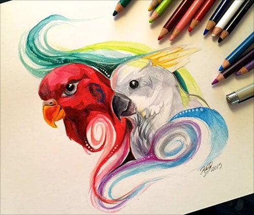 nspiring-Color-Pencil-Drawings-of-Animals-2016-(5)
