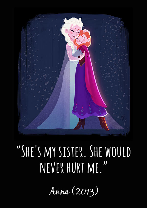 Beautiful Illustrations Of Disney Princesses With Inspirational Quotes