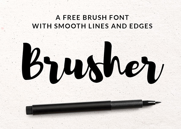 Brusher-Free-Brush-Pen-Font-Download