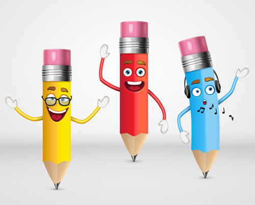 Cute-Pencil-Characters-Illustrator-Tutorial