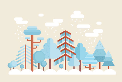 Flat-Winter-Illustrations-Illustrator-Tutorial