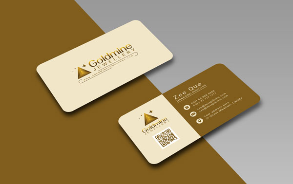 Free Logo Rounded Corner Business Card Design Template Mock Up Psd